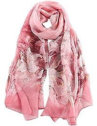 184c447b5337 Donna Sciarpa di Seta di Lusso di Colore Solido Impacca di Scialle di