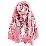 STORY OF SHANGHAI mujer bufanda cuadrada pañuelo de seda femenino de la gasa bufanda de la luz...