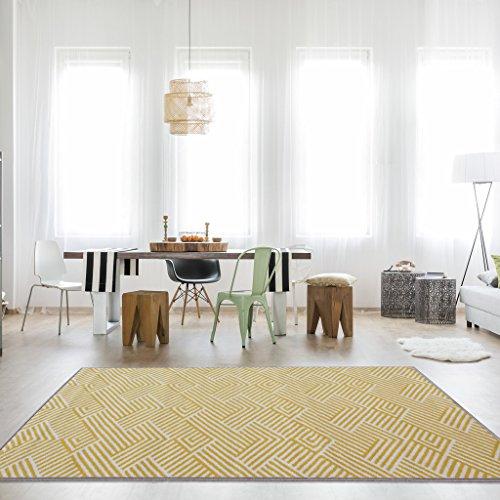 The Rug House Tradicional Alfombra Milán para Sala de Estar con diseño patrón Alineado en Colores...