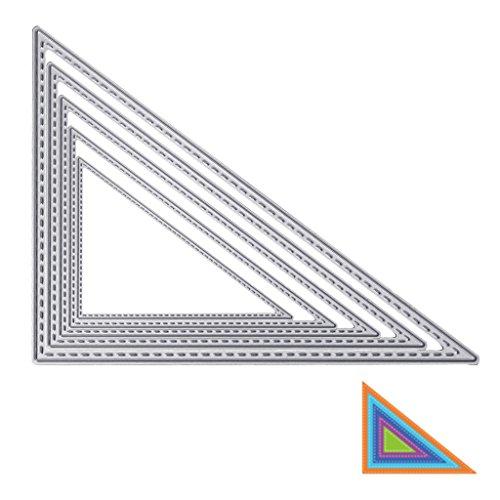 Wanfor Dreieck Stanzformen Schablonen Scrapbook Album Prägekarte DIY Handwerk Decor (Pergament Dreiecke)