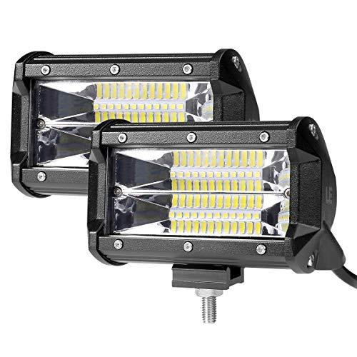 LE Lighting EVER Phare LED 72W, Rampe Barre LED Imperméable, pour Voiture Camion SUV Bâteau Chantier, Lot de 2