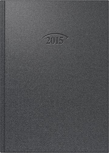 Buchkalender brunnen-timer® Modell 765, 1 Tag / 1 Seite, vulkan schwarz