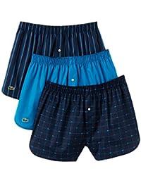 Boxer 3-Pack Trunk S-XL Lacoste Boxer Homme - Bleu