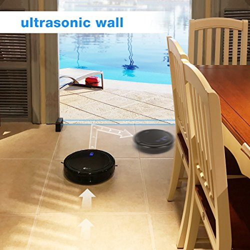 EC Technology Robotic Vacuum Cleaner High Suction Drop-Sensing ...