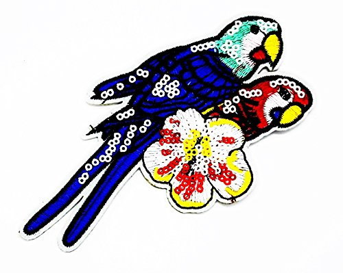 Kostüm T Bird Kind (rabana Bird Parrot Flower Cartoon Kids Kinder Cute Animal Patch für Heimwerker-Applikation Eisen auf Patch T Shirt Patch Sew Iron on gesticktes Badge Schild)