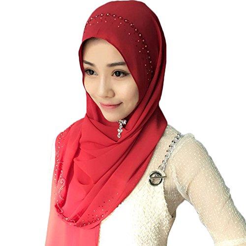Feicuan Damen Saudi Arabia Dubai Kopftuch Muslim Islamischen Hijab Turban (Turban Headcover)