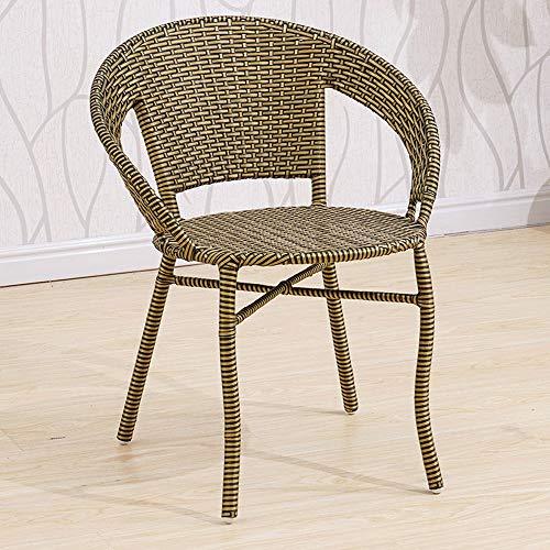 LF-chair Korbsessel Outdoor Garten Sofa Stuhl Garten Stahlrahmen Klassischer Stuhl Freizeit Sessel Rückenlehne Balkon Kleiner Stuhl (Color : C)