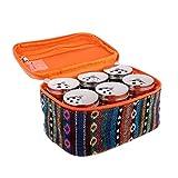 Baoblaze 6X Portable Shaker + Dispenser per Vasetto di Sale Condimento con Pepe in Acciaio Inox