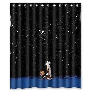 Calvin klein and hobbes rideau de douche étanche 150 x 180 cm