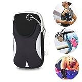 Brazalete Deportivo Universal, Móviles Bandas para el Brazo Jogging Gimnasio Deportes Fitness Armband Funda para iPhone X/8/7/6/6S/5S/5C/SE/5 Plus,Samsung Galaxy Huawei HTC etc. (Negro/Gris)