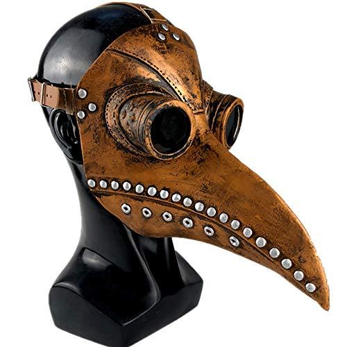 Pest Doktor Maske, Halloween Steampunk Pest Vogel Maske, Long Nose Cosplay Kostüm Requisiten, Umweltfreundliche - Dr House Kostüm Halloween