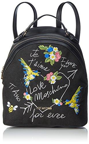 love-moschino-damen-rucksackhandtasche-schwarz-black-canvas-12x32x28-cm