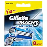 Gillette Mach3 Turbo Men's Razor Blades - 8 Refills