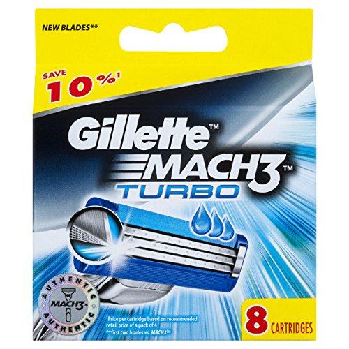 Gillette mach3 turbo   Recambios para cuchillas de afeitar (8 unidades)