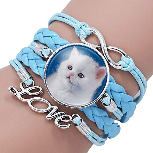 Olive Vögel (QIANJY Mode Multi Katze Bilder Unendlichkeit Olive Vogel Charms Armbänder Armreifen Schmuck Handmade Günstige Armband Für Kinder Geschenke)