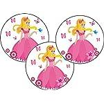 Cake Company Esspapier-Aufleger Prinzessin | 25 Stück, 4cm | Torten-Aufleger für Muffin-Aufleger & Cupcakes-Aufleger | Torten-Deko für Prinzessin-Party | ideal für Motiv-Torten für Kinder-Geburtstag