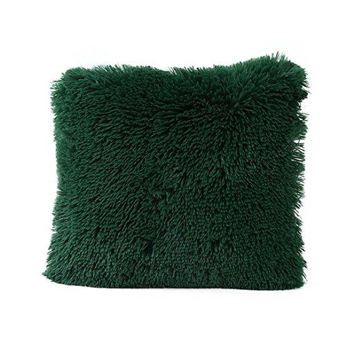 Queen-size-staub Rüschen (Warm Plüsch Farbe Home Body Winter Kopfkissen, highpot Simpel Stil Design mehrere Farbe quadratisches Kissen, Plüsch-Bezug, Plüsch, armee-grün, 43cm*43cm/16*16inch)