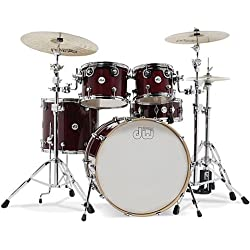 DW Design Cherry Stain · Drum Kit