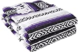 Best Yoga Direct Blankets - YogaDirect Deluxe Mexican Yoga Blanket, Purple Review