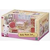 Sylvanian Families - Set de juego habitación para bebés, color beige y rojo (Epoch 2964)