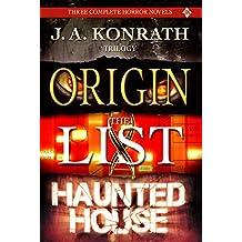 J.A. Konrath Horror Trilogy - Three Scary Thriller Novels (Origin, The List, Haunted House) (English Edition)