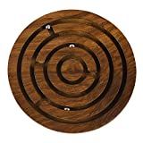 Rusticity Wooden Labyrinth puzzle Game | realizzata a mano | (5 x 5 in)