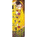 Gustav Klimt - El Beso, 1908 Cuadro, Lienzo Montado Sobre Bastidor (90 x 30cm)