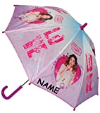 Unbekannt Regenschirm / Stockschirm -  Disney Violetta  - incl. Name - Kinderschirm - Ø 80 cm - Kinder Schirm Kinderregenschirm / Glockenschirm - für Mädchen - Martin..