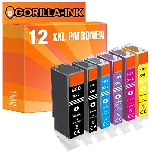 epson nachfuellpatronen Gorilla Ink 12 Druckerpatronen XXL GI378XL kompatibel für Epson Expression Photo XP-15000 XP-8000 XP-8005 XP-8500 XP-8505