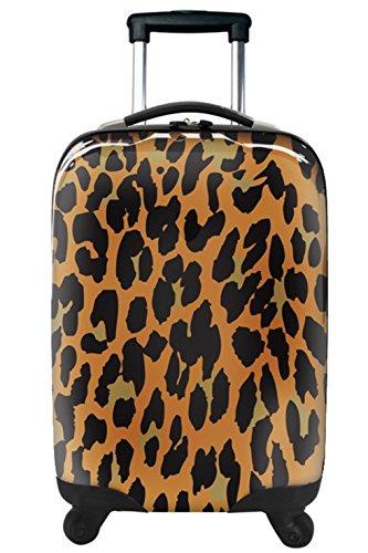 ... 50% SALE ... PREMIUM DESIGNER Hartschalen Koffer - Heys Novus Art Leopard Braun - Handgepäck Leopard Braun