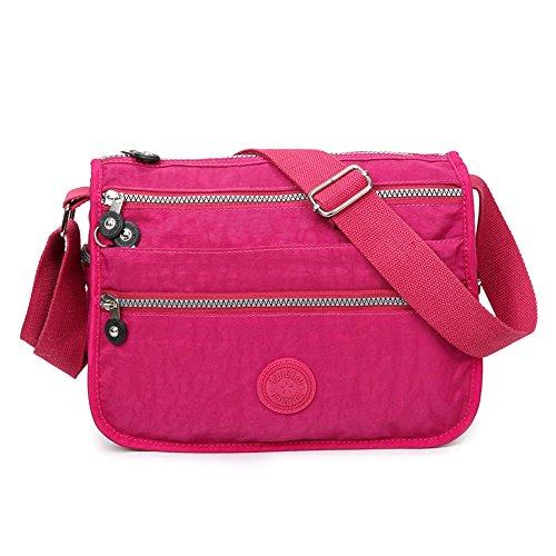 SUNRAY-BUY - Borsa a tracolla donna Hot Pink