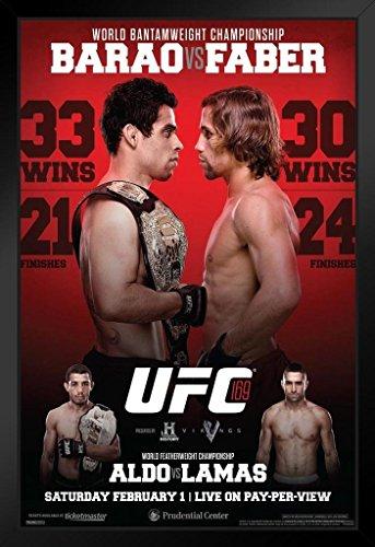 Pyramid America Offizielles Poster UFC 169 Renan Barao vs Urijah Faber Sports gerahmt, 35,6 x 50,8 cm