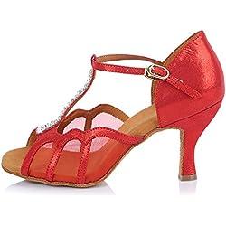 Zapatos de BAILE Latino Rojo YKXLM
