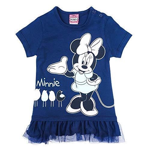 Disney Mädchen Minnie Mouse T-Shirt, blau, Größe 86, 18 ()