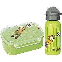 Preisvergleich für Sigikid Brotdose 24781 und Trinkflasche Fußball Kily Keeper 24795 Geschenkset für Kindergartenkinder oder ABC Schützen