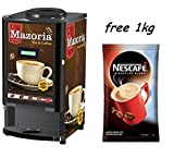 Tea Coffee 2 Flavour Vending Machine with 1kg Nescafe Coffee premix