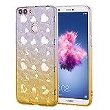 Huphant Kompatibel mit Huawei Honor 7S Hülle, Transparent Silikon Handyhülle für Huawei Honor 7S Case Stoßstange Crystal Clear Anti-gelb Slim Ultradünn Slim Fit Silikon Case -Gold