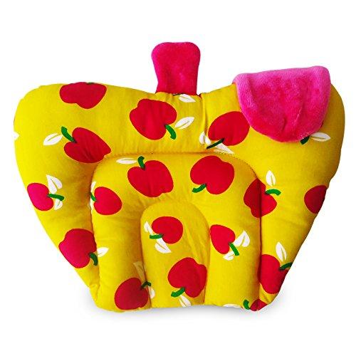 Littly Mustard Seeds (Rai) Cotton Baby Pillow - Apple Shape (Yellow)