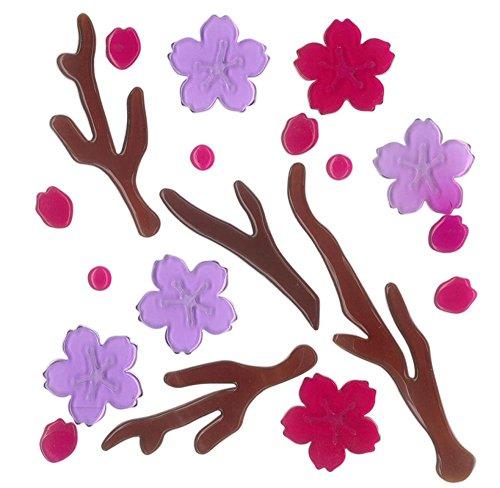Magicgel finestra immagini–fiori di ciliegio, decorazione per finestra, specchio decorativo