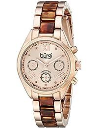 Burgi Reloj con movimiento cuarzo suizo BUR130RGBR 32.5 mm