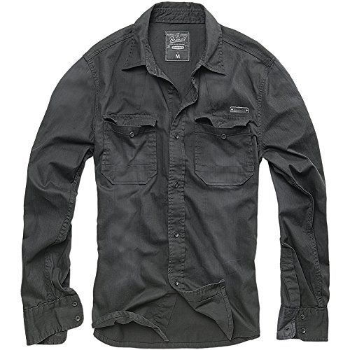 brandit-hardee-denim-shirt-black-size-m