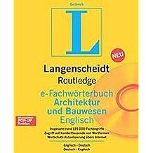 Langenscheidt Routledge Fachwörterbuch Bauwesen. Englisch. CD-ROM für Windows 3.1/95/NT