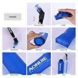 Botella blanda comprimible Docooler con pajita, sin BPA, para corredores,Running Soft Flask Botella,color 350ML 600ML