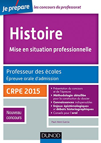 Histoire Professeur des écoles Oral admission - CRPE 2015