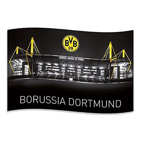 "BVB Borussia Dortmund Fahne / Hissfahne \"" Signal Iduna\"" mit Ösen"