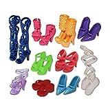 Domire 20 Paar Schuhe für Puppe Barbie Puppe - 10pcs shoes, plastik