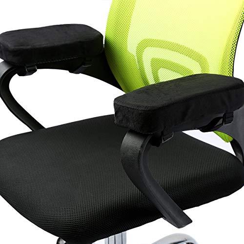 Schaum-stuhl-pad (ANSUG 2 Stück Stuhl Armlehne Pad, Memory Foam Ellenbogen Kissen Abnehmbare Stuhl Arm Abdeckungen für Bürostühle und Rollstuhl - Größe 9,8 * 3 * 1,4