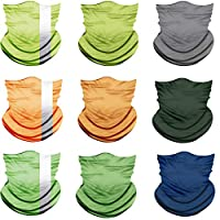 ACBungji 9PCS Multifunction Magic Motorcycle Outdoor Sport Seamless Colorful Tube Half Face Wrap Headband Scarf
