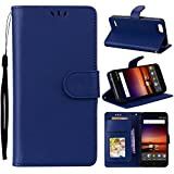 For ZTE Tempo X N9137 Case, [Extra Card Slot] Danallc [Wallet Case] PU Leather TPU Casing Wallet [Drop Protection] Case Compatible With ZTE Tempo X N9137, Dark Blue