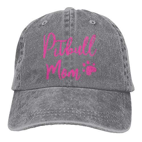 Sports Denim Cap Pitbull Mom Dog Men Women Snapback Caps Polo Style Low Profile -